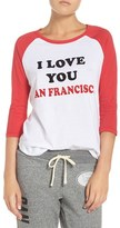 Junk Food Clothing Women's San Francisco 49Ers Raglan Graphic Tee
