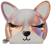 Pippa Omg Accessories Girl's Faux Fur Hologram Faux Leather Coin Purse