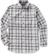 Roundtree & Yorke Casuals Long-Sleeve Ombre Plaid Flannel Sportshirt