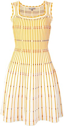 Lela Rose Fitted Stripe Knit Dress