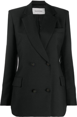 Valentino Notched-Lapel Double-Breasted Blazer