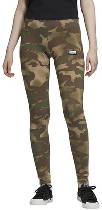 adidas 'Reveal Your Voice' Tights - Earth Green Camo