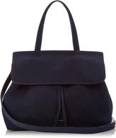 Mansur Gavriel Black-lined Lady top-handle suede bag