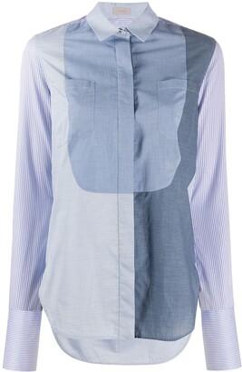 Mrz Colour-Block Striped Sleeve Shirt