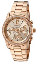 Invicta Women's 11774 Angel Rose Tone Dial 18k Rose Gold Ion-Plated Stainless Steel Watch