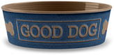"One Kings Lane 7"" Good Dog Pet Bowl - Indigo/Mocha"