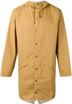 Rains hooded zip up jacket - men - Polyurethane/Polyester - XL