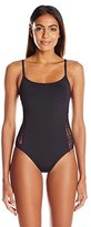 Anne Cole Women's Classic Lace Crochet Maillot One Piece Swimsuit