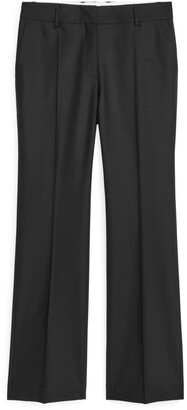 Arket Kick-Flare Stretch Wool Trousers