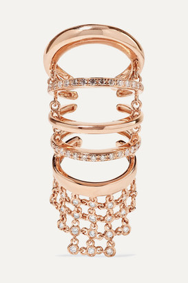 YEPREM 18-karat Rose Gold Diamond Ring