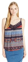 Eyeshadow Women's Braid Strap Tank Top with Crochet