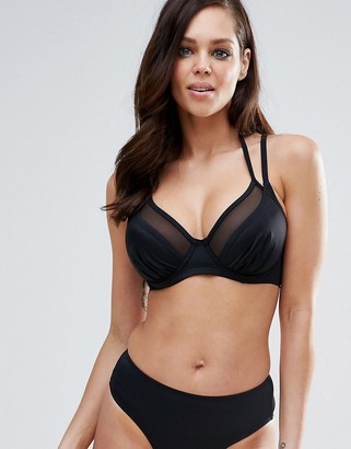 Pour Moi? Pour Moi Double Strap Convertible Bikini Top B - G Cup-Black