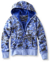 L.L. Bean Girls' Fleece-Lined Camp Sweatshirt, Hoodie Print
