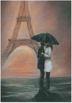 Graham & Brown Kissing in Paris Canvas Wall Art
