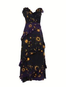 Hayley Menzies Superstar Struck Silk Dress Navy - medium