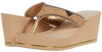 GUESS Sarry (Gold Multi Fabric) Women's Sandals