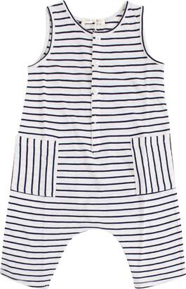 Zhoe & Tobiah Striped Newborn Bodysuit