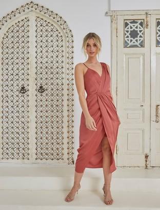 Forever New Natalie Column Dress - Rose Rust - 4