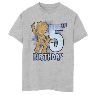 Marvel Boys 8-20 Guardians Of The Galaxy Baby Groot 5th Birthday Graphic Tee