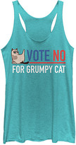 Fifth Sun Women's Tank Tops TAHI - Grumpy Cat 'Vote No for Grumpy Cat' Tank - Women & Juniors