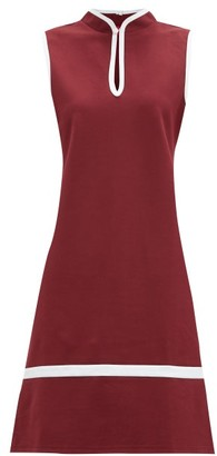 STAUD Thea Keyhole-neck Jersey Dress - Burgundy