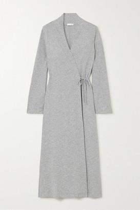 Skin Melange Pima Cotton-jersey Robe - Gray
