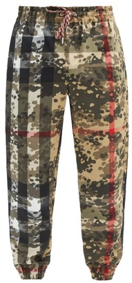Burberry Tulio Camouflage-print Shell Trousers - Beige Multi