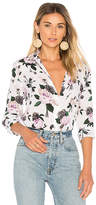 Equipment Leema Floral Button Up in White