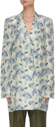 Petar Petrov Graphic print Habutai silk double breast blazer