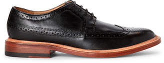 Bostonian Black Soft Wing Brogue Leather Derby Shoes