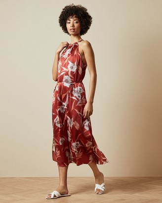 Ted Baker Cabana Halter Neck Midi Dress