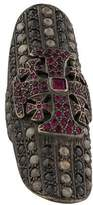 Loree Rodkin 18K Diamond & Ruby Shield Ring