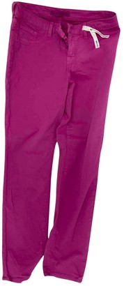 J Brand Pink Cotton Jeans for Women