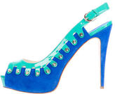 Brian Atwood Studded Slingback Pumps