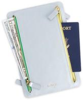 Royce New York RFID-Blocking 4-Zip Leather Travel Organizer