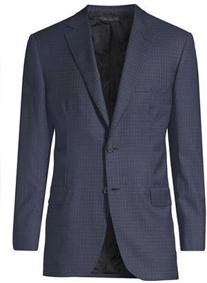Brioni Regular-Fit Check Wool Jacket