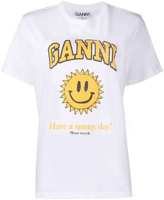 """Ganni """"Have a sunny day!"""" T-shirt"""
