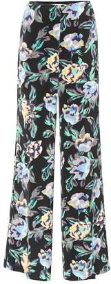 Diane von Furstenberg Floral-printed wide-leg trousers