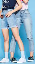 Esprit RETRO-COLLECTION: High waist denim shorts