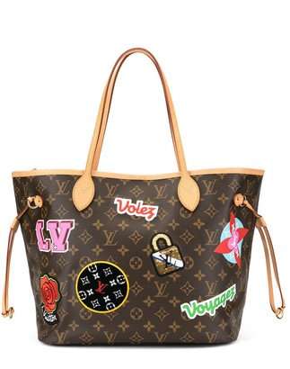 Louis Vuitton pre-owned Patches Neverfull MM shoulder tote bag