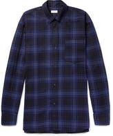 Dries Van Noten Oversized Button-Down Collar Checked Cotton Shirt