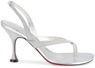 Christian Louboutin Taralita Glitter Slingback Glitter Sandals
