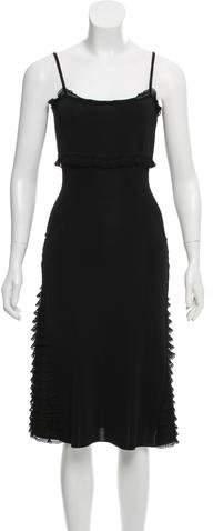 Valentino Ruffle-Trimmed Midi Dress