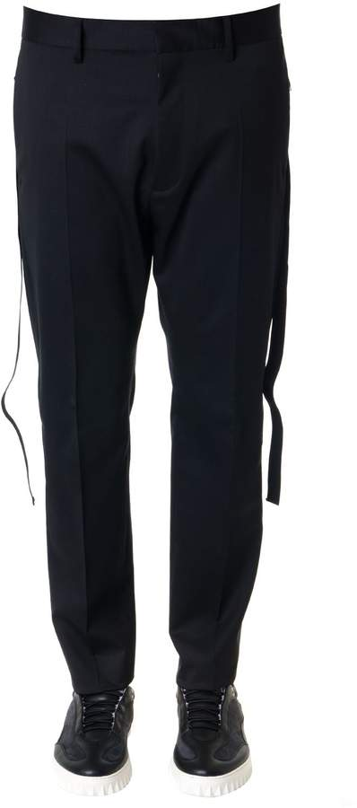 DSQUARED2 Black Stretch Wool Trousers