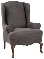 Sure Fit Ultimate Stretch Faux Leather Wing Arm Chair Slipcover