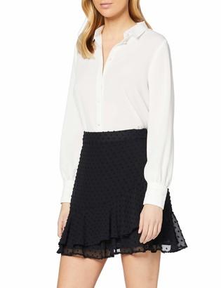 Dorothy Perkins Women's Black Textured Ruffle Mini Skirt 10