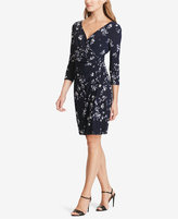 American Living Floral-Print Surplice Dress