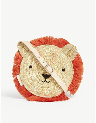 Meri Meri Lion straw crossbody bag