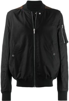 Rick Owens Contrast Panel Bomber Jacket