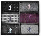 London Sock Co. - The Patterned Sartorial Six-Pack Stretch Cotton-Blend Socks